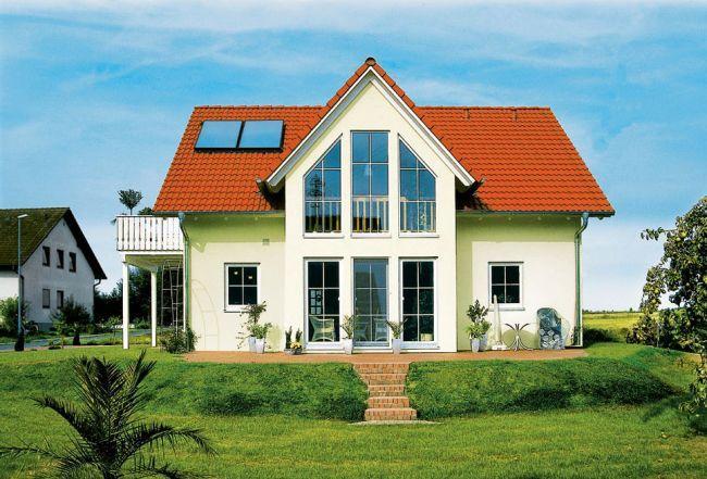 Dom i kolektory słoneczne