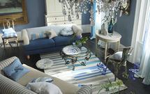 Niebieski salon - poczuj powiew lata! Aranżacje niebieskich pokojów