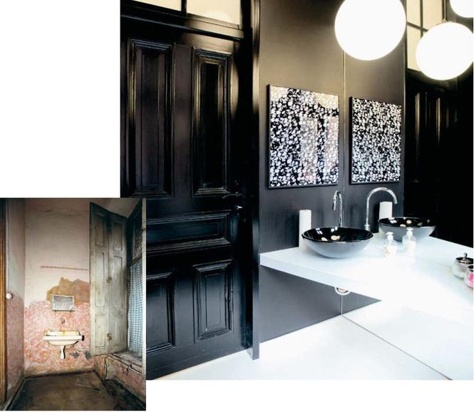 Metamorfoza łazienki - aranżacja czarnej łazienki