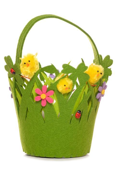 Wielkanocny koszyczek z filcu