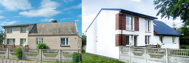 Dom przed i po ociepleniu