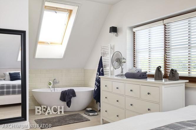 Łazienka z sypialnią na poddaszu