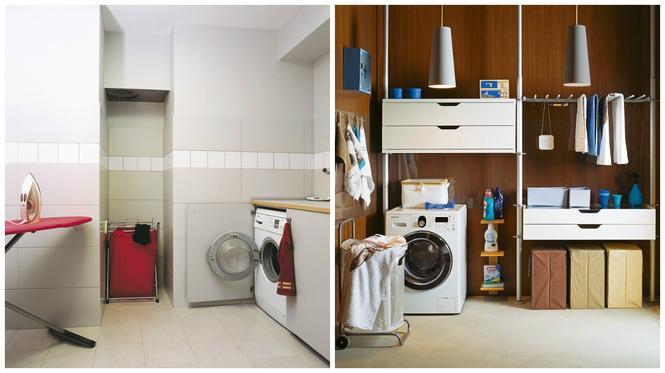Pralnia w domu: gdzie postawić pralkę i szuszyć pranie